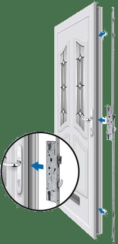 Replace lock not the door